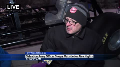 Salvation Army officer sleeping outside for 5 nights to raise...
